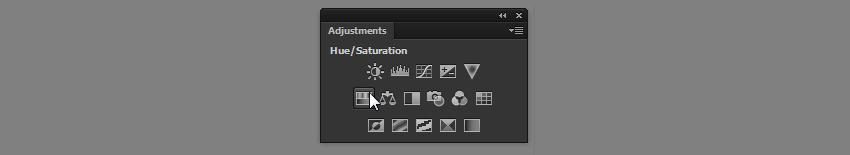 hue saturation adjustment layer