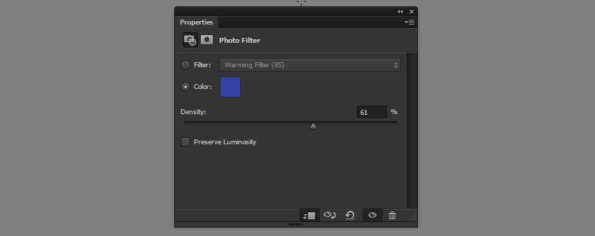 sublte photo filter