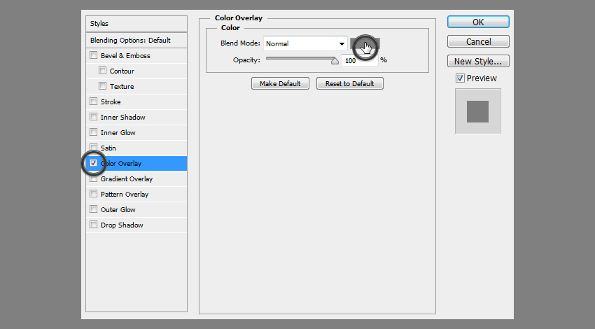 blending options color overlay