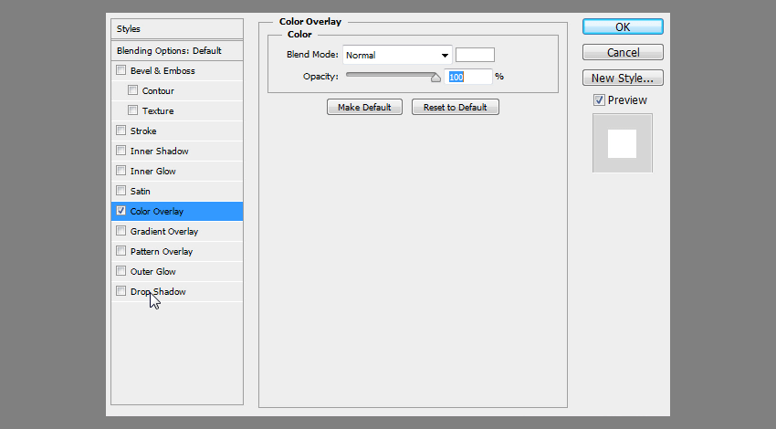 white color overlay