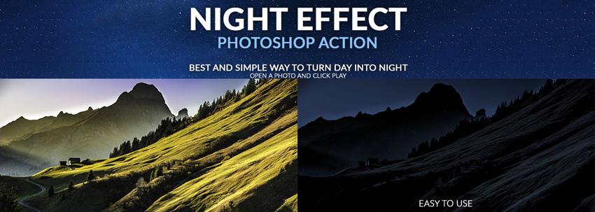 night effect photoshop action