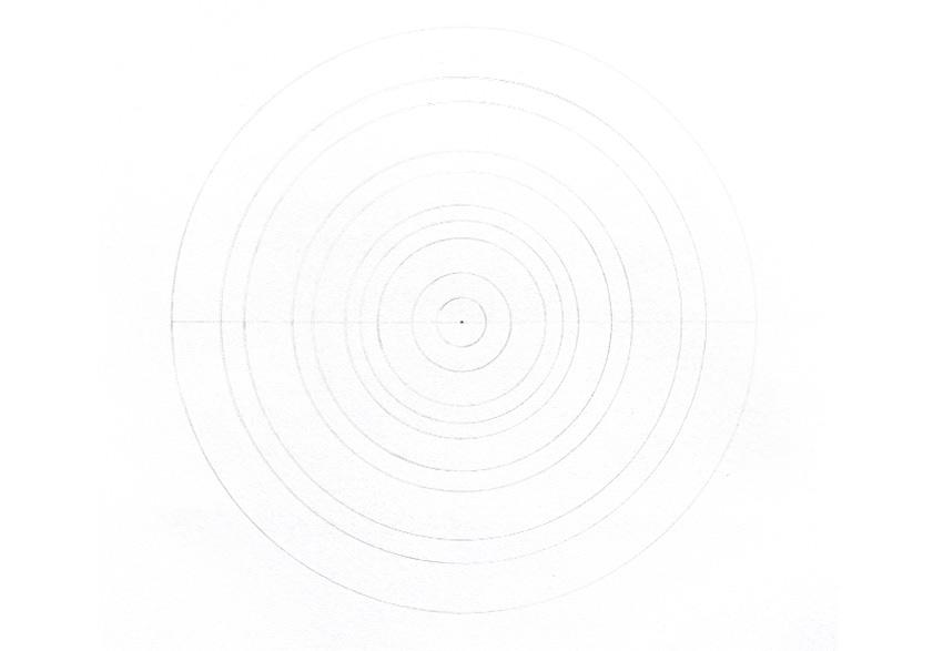 mandala horizontal line across