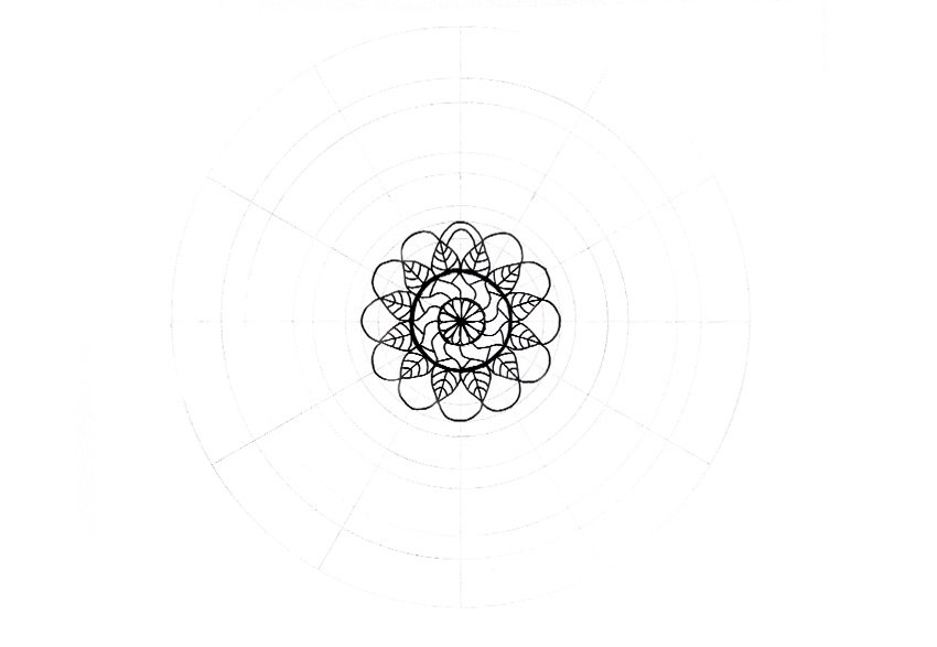mandala detailed shape