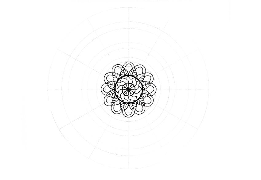 mandala detailed shape done