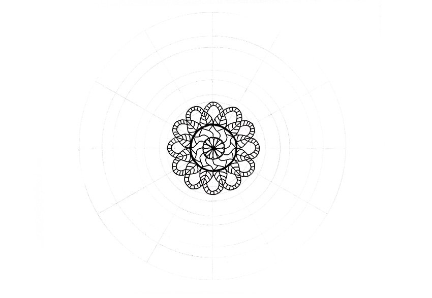 mandala full flower with details