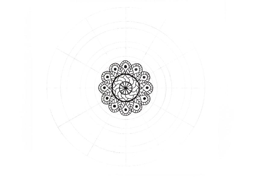 mandala dark circles fill