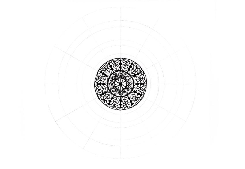 mandala little dots