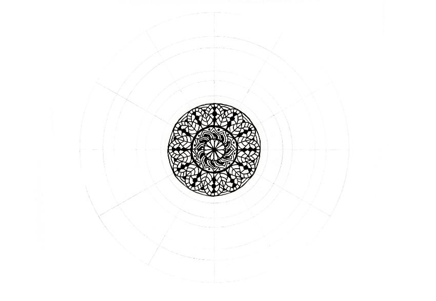 mandala little dots in flower