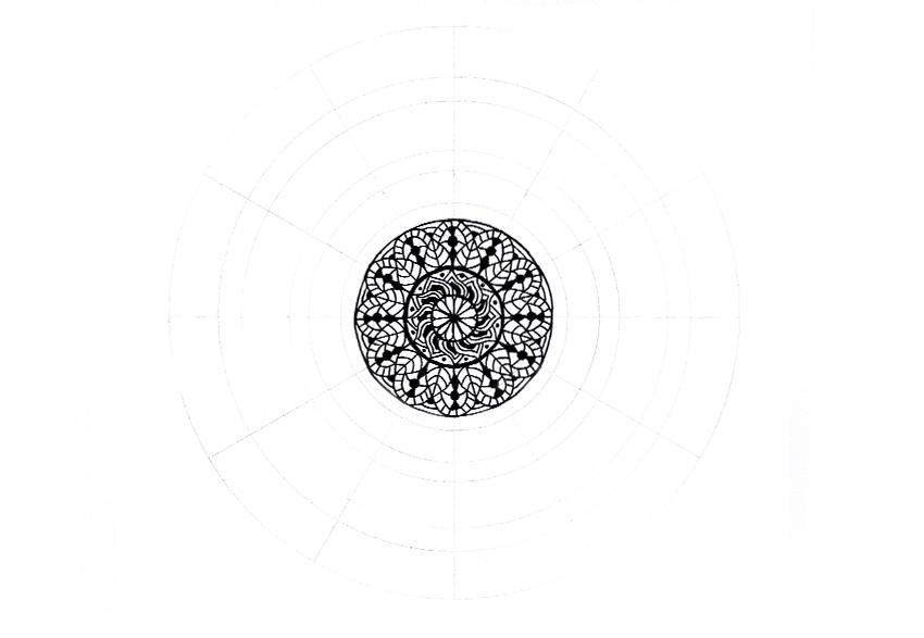 mandala tiny details