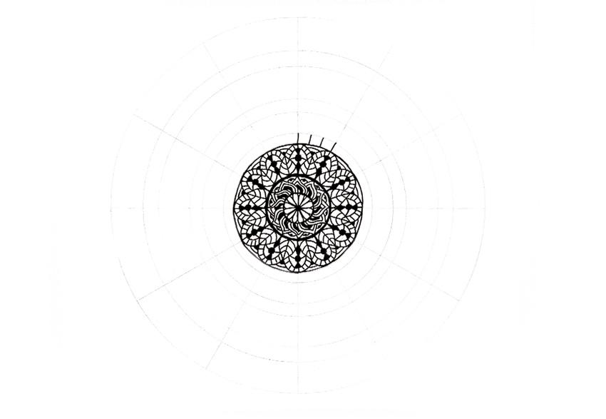 mandala divide in thirds