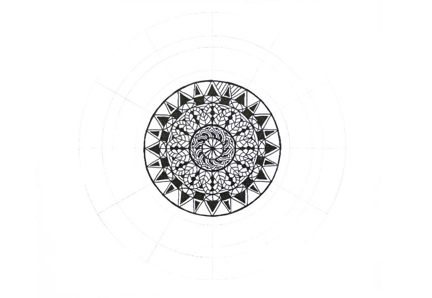 mandala simple lines