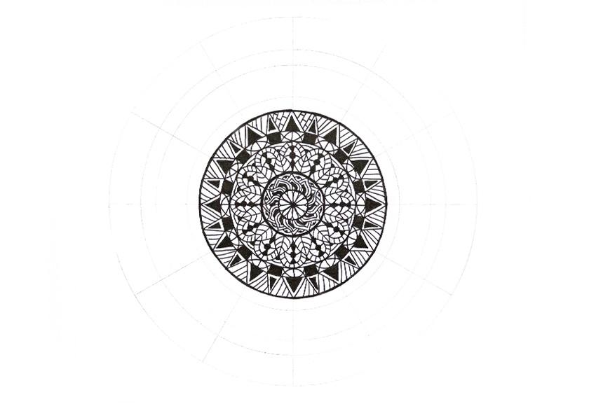 mandala simple decoration
