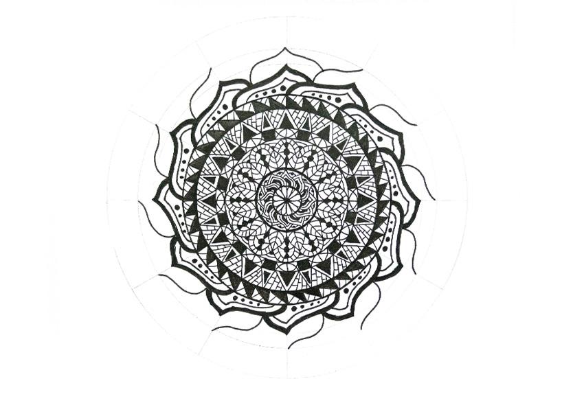 mandala close petal