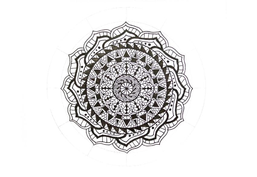 mandala simple pattern fill