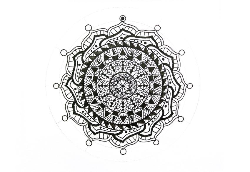 mandala fill the circle