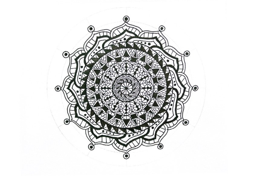 mandala circles filled