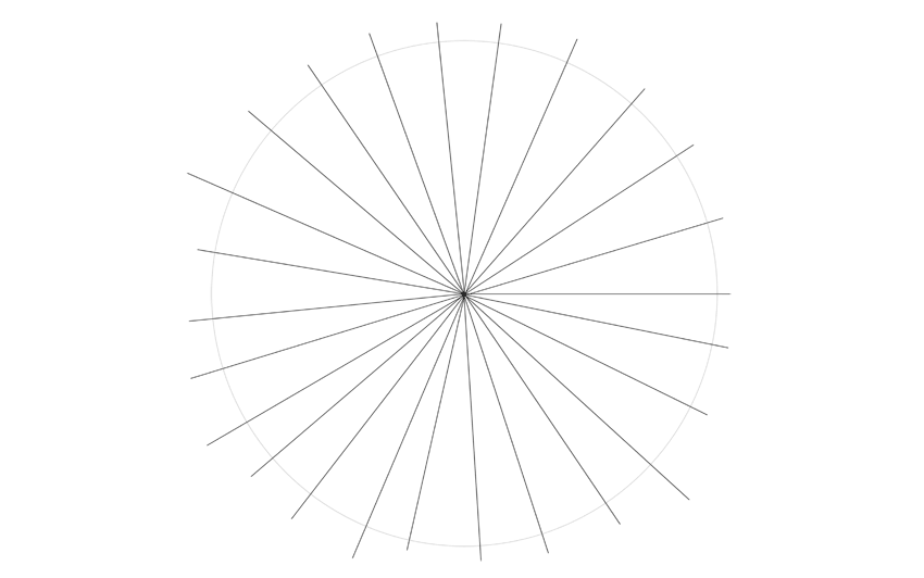 spider web drawing radial lines