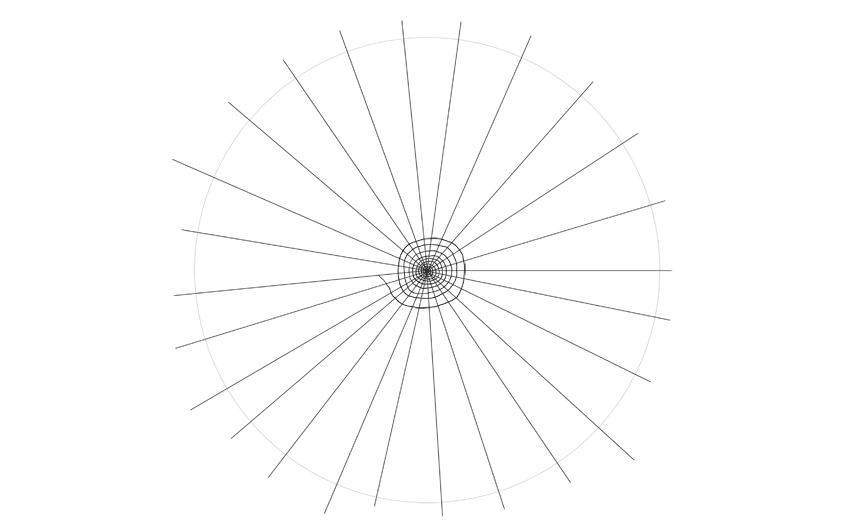 spider web drawing central spiral