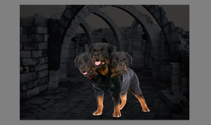 photoshop dark background