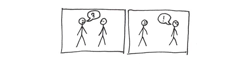 basic construction of comic strip