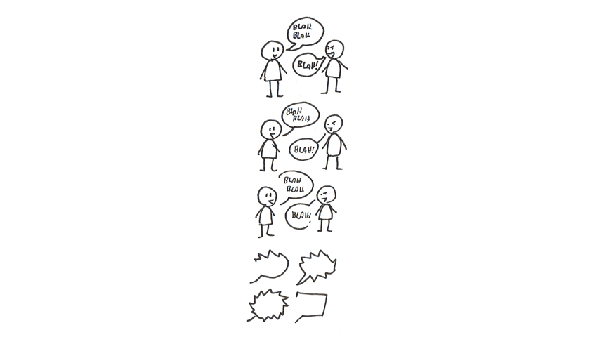 how to design simple speech bubbles