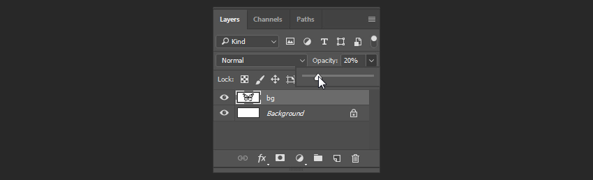 photoshop how to lower opacity