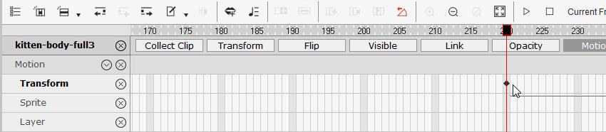 add a new keyframe