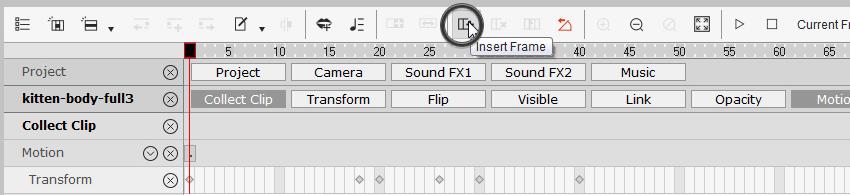 how to insert frames crazytalk animator