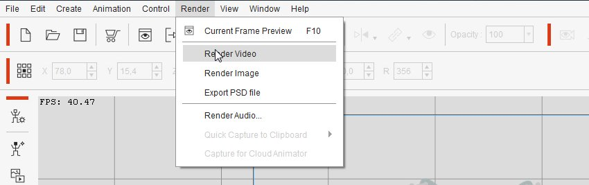 render video crazytalk animator