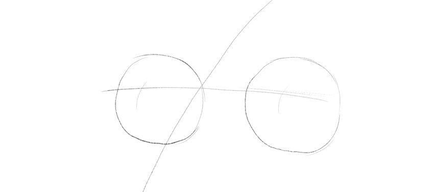 how to draw eyeballs in perspective