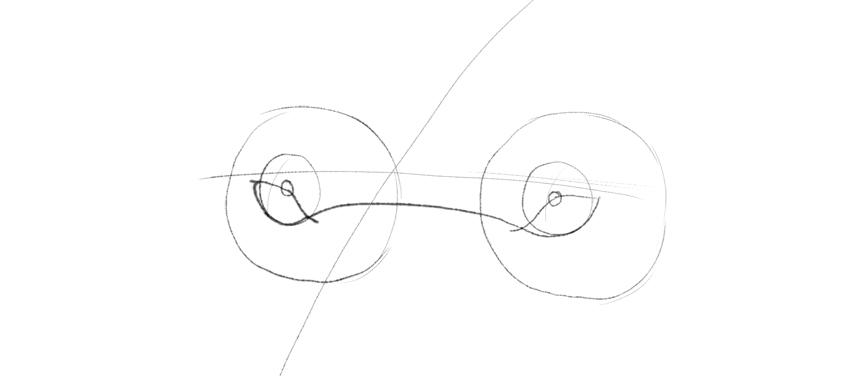 lower eyelid rim drawing