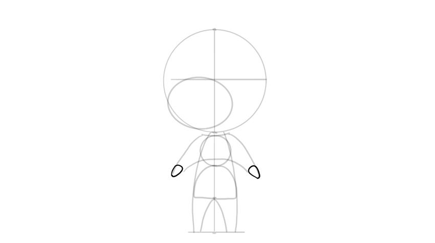 drawing chibi hands