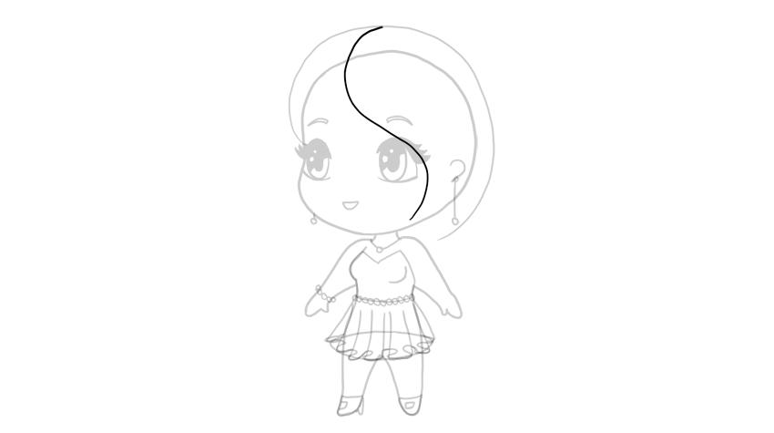 drawing chibi hair bangs