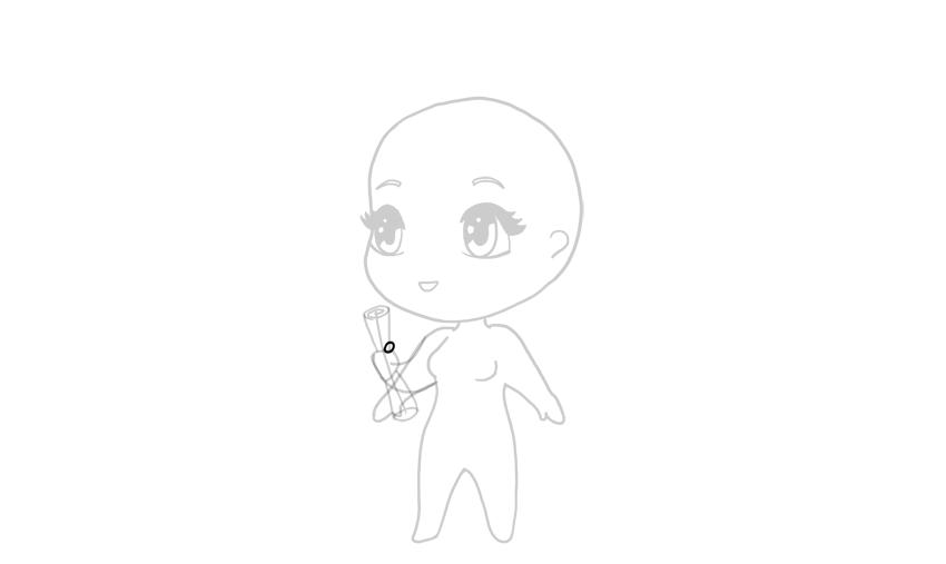 drawing chibi closed thumb
