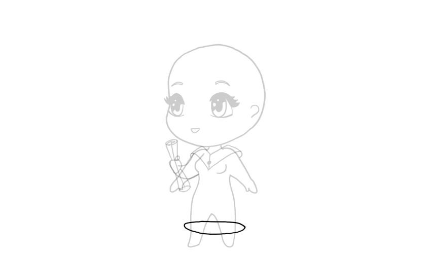 drawing chibi robe rim