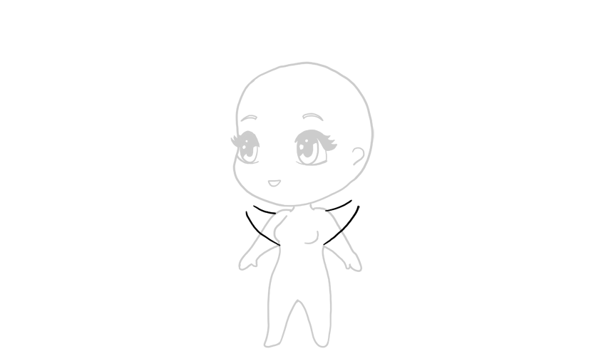 drawing chibi hands up