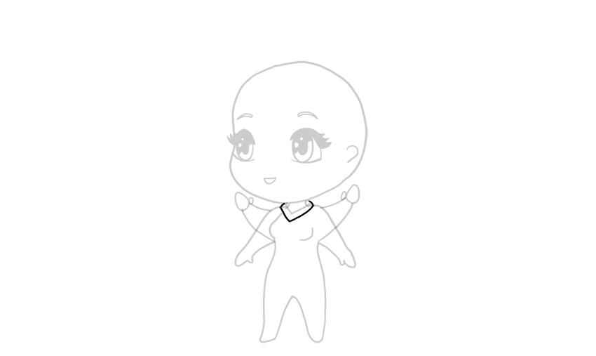 drawing chibi full small collar
