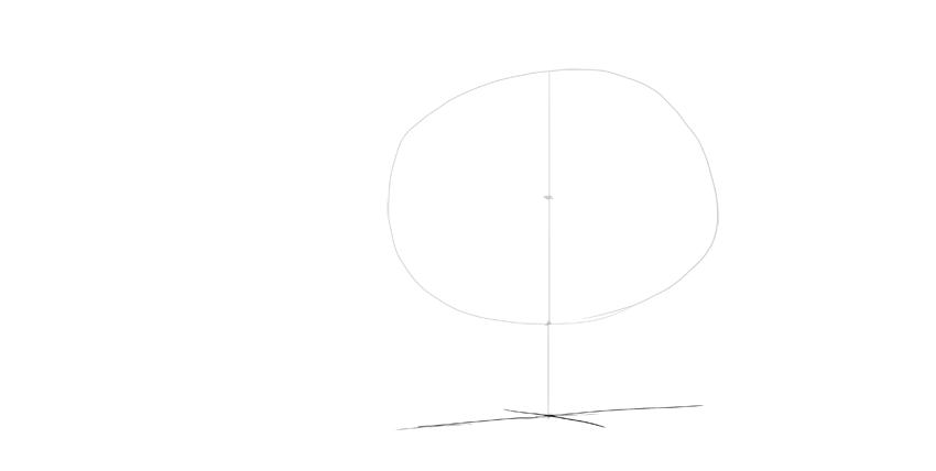 bear drawing persepctive cross