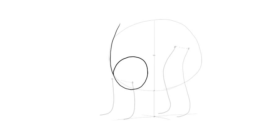 bear drawing arm shoulder