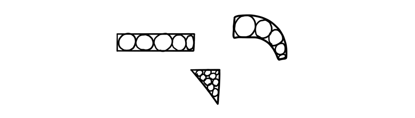 fill area with circles