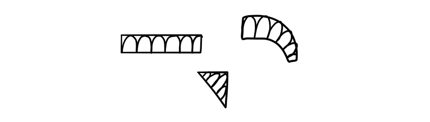 fill area with arcs