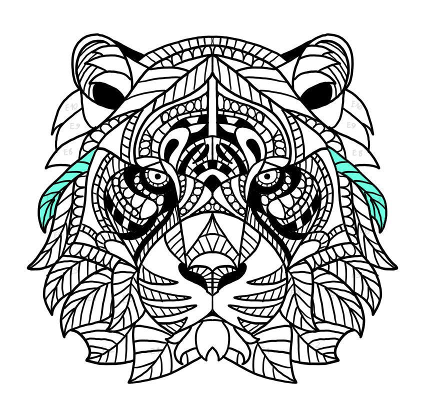tiger fur strands complete
