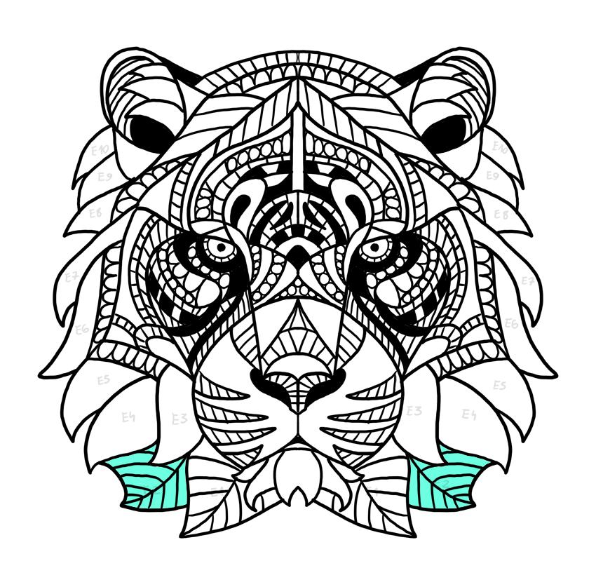 tiger fur leaf pattern