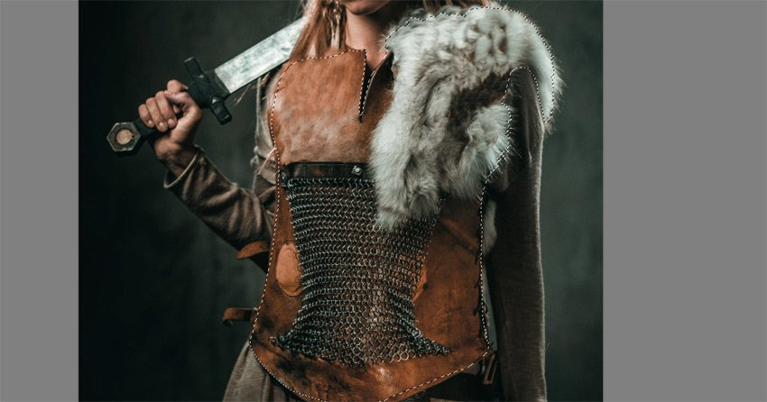 cut the leather armor