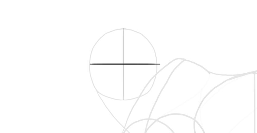 divide the head horizontal