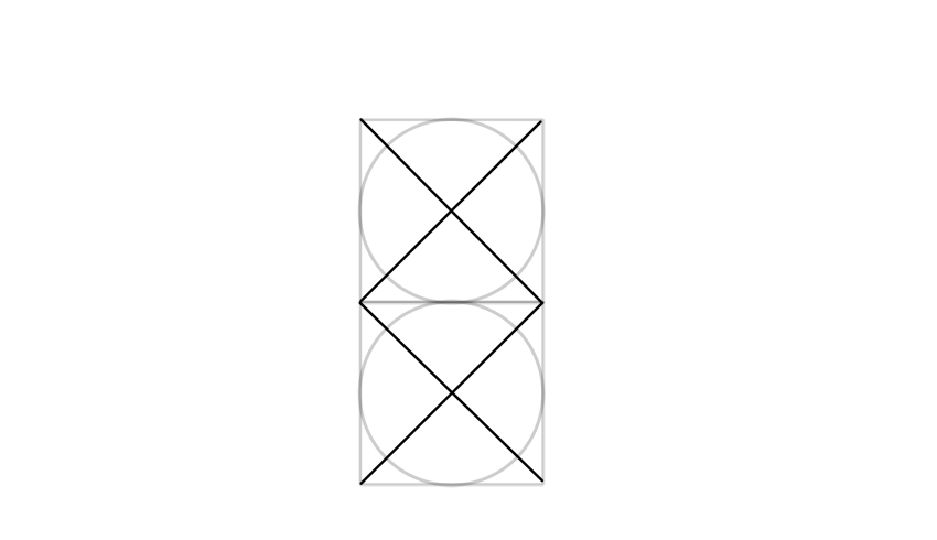 find the center with diagonals