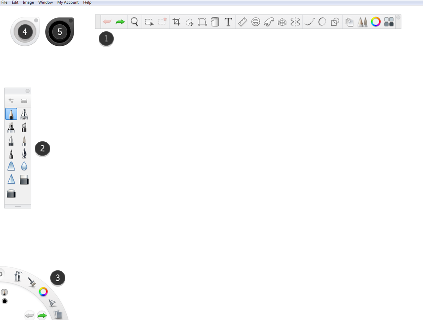 sketchbook basic interface