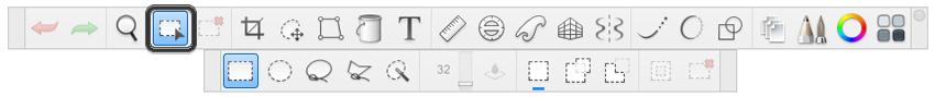 sketchbook selection tools