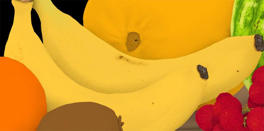 banana surface imprefections