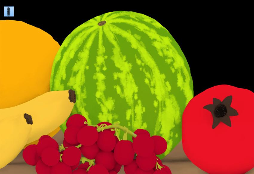 detailed watermelon pattern